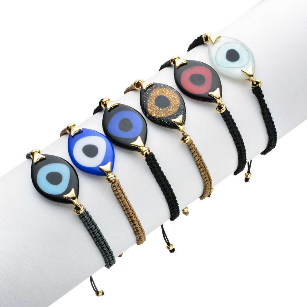 ZMZY gran bohemio pulsera Boho ojo malvado accesorios de pulsera para mujeres boda joya clásica hecha a mano fiesta chica regalos Bijoux