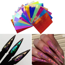 Get more info on the 13pc/set Holographic Rhombus Design DIY Laser Neon Colorful 3D Nail Art Sticker Adhesive Decal Sticker Manicure Nail Art Decal