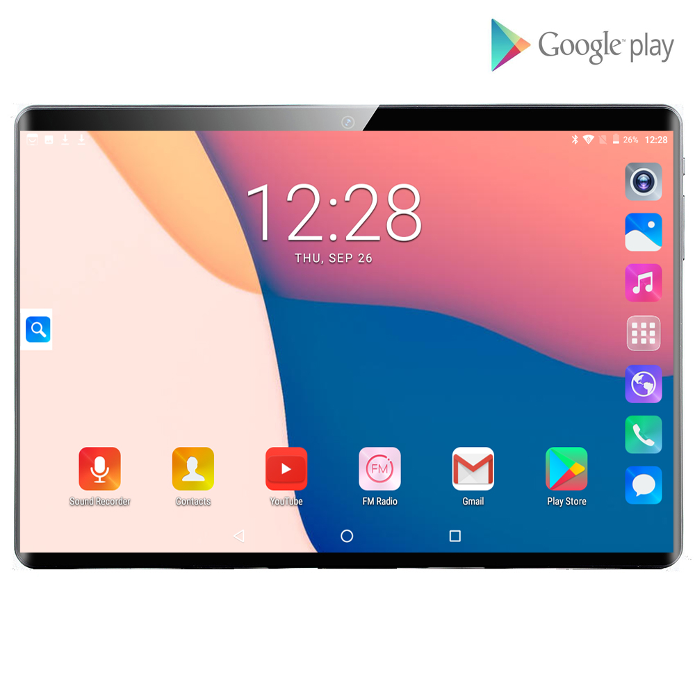 2020 New Global Version 10 Inch 4G Tablet PC 6GB RAM 128GB ROM  Android 9.0 WiFi 1280*800 IPS 2.5D Glass 4G Call Phone Tablet Pc