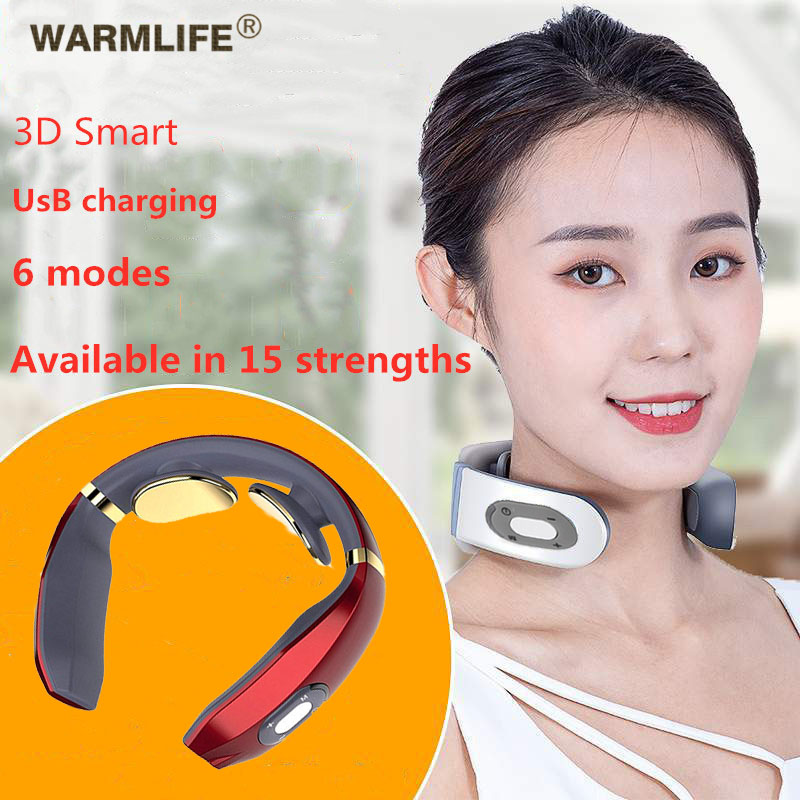 Electric Pulse Cervical Spine Massager USB Rechargeable Cervical Pulse Massage Acupuncture Magnetic Therapy Pain Relief Tool