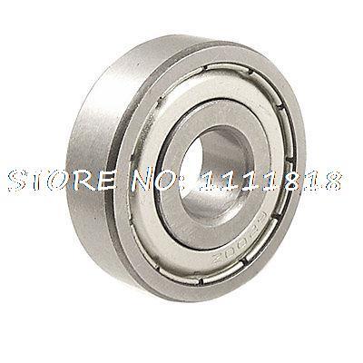 "25/64""x 1 2/11""x 5/14"" 6200Z Industry Shielded Ball Bearing"