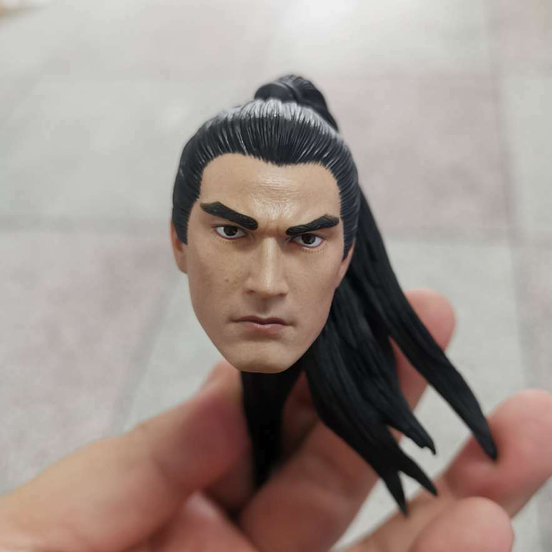 """1//6 Chinese Ancient Zhao Yun Calm Version Head Carving F 12/"""" Male Figure Body"""