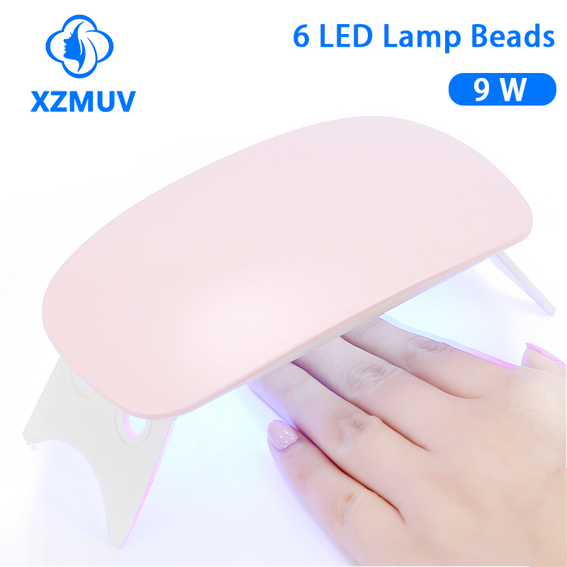 XZMUV Mini 6W sèche-ongles Machine Portable 6 LED UV manucure lampe ongles USB câble usage domestique lampe à ongles pour sécher les ongles