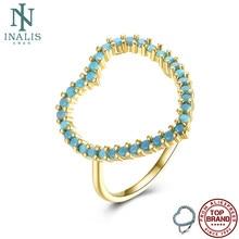 Inalis anéis femininos anel de cobre do vintage romântico oco coração design boêmio moda jóias feminino venda quente festa de casamento presente
