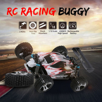 Wltoys A959 1:18 4wd Rc Car Updated Version 2.4g Control Rc Car Toys 45km/h off-road Brushed Motor Boys Rc Car Toys For Children