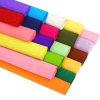 Rollo de papel crepé de colores, 250x25cm, Floral, Origami italiano, crepé arrugado, bricolaje, artesanía de papel, flores, embalaje de regalo de decoración