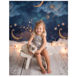 Image 4 - NeoBack Gold Moon Stars Flash Newborn Photography Backdrop Baby Shower Birthday Party Children Photocall Studio Photo Background