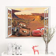Disney Cars Lightning McQueen wall sticker for kids room Boy Bedroom Accessories mural art Home Decal