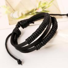 2019 Fashion Charm Mens Bracelets Trendy Boys Bangle DIY Handmade Weave Leather adjustable Jewellery