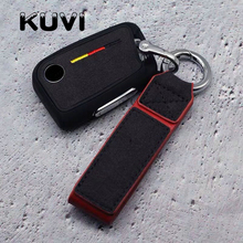 Germany style suede TPU Protection Remote Key Cover Case For Skoda Superb A7 Volkwagen Passat B8 VW Golf Gte Car Styling