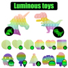 Glow in the Dark Fidget Toys Stress Reliver Fluorescence Luminous  Anti-stress Rainbow Kids���Adult Push Bubble Toys Free Shipping