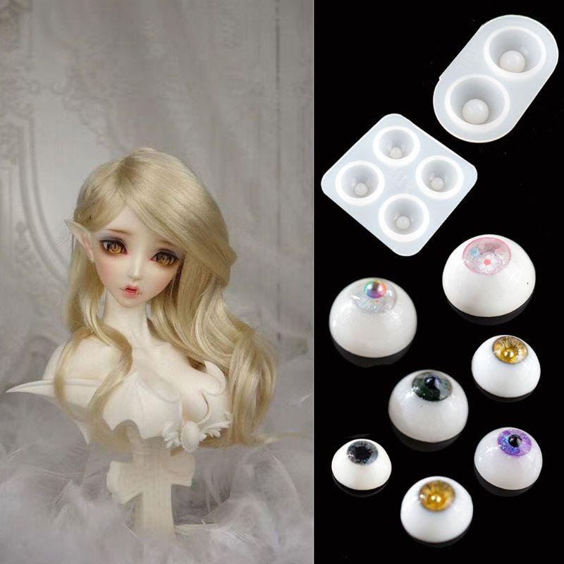 Handmade All Sizes Ball-Jointed Doll Eye Resin Mold Eyeballs Half Round Doll Eyes Resin Casting Mold Art Craft Tools