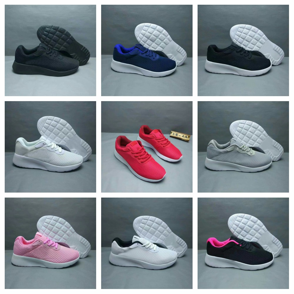 Light Portable Men's Running Shoes Simple And Breathable Sneakers For Women Roshings Black White Grey Pink Shoes Size 36-44