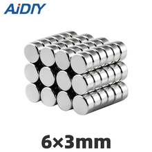 AI DIY 50/100 pcs  6x3mm neodymium magnet N35 super strong disc small magnets 6 x 3mm