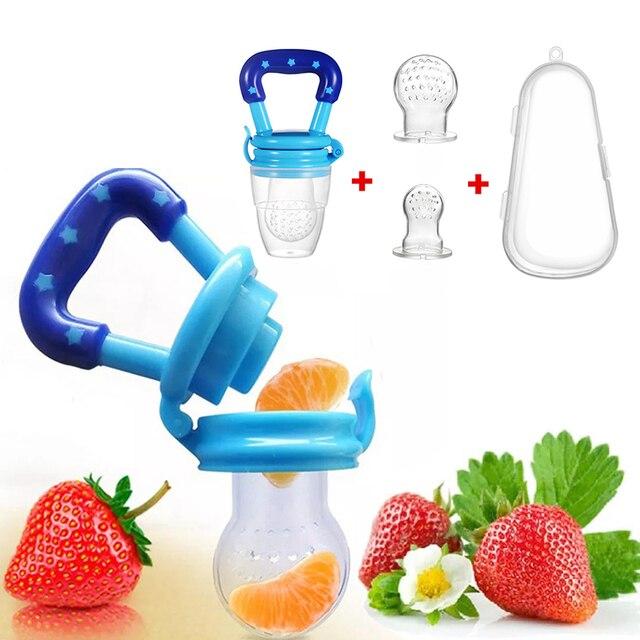 4 In 1 Baby Nipple Fresh Food Fruit Milk Feeding Bottles Nibbler Learn Feeding Drinking Water Straw Handle Teething Pacifier