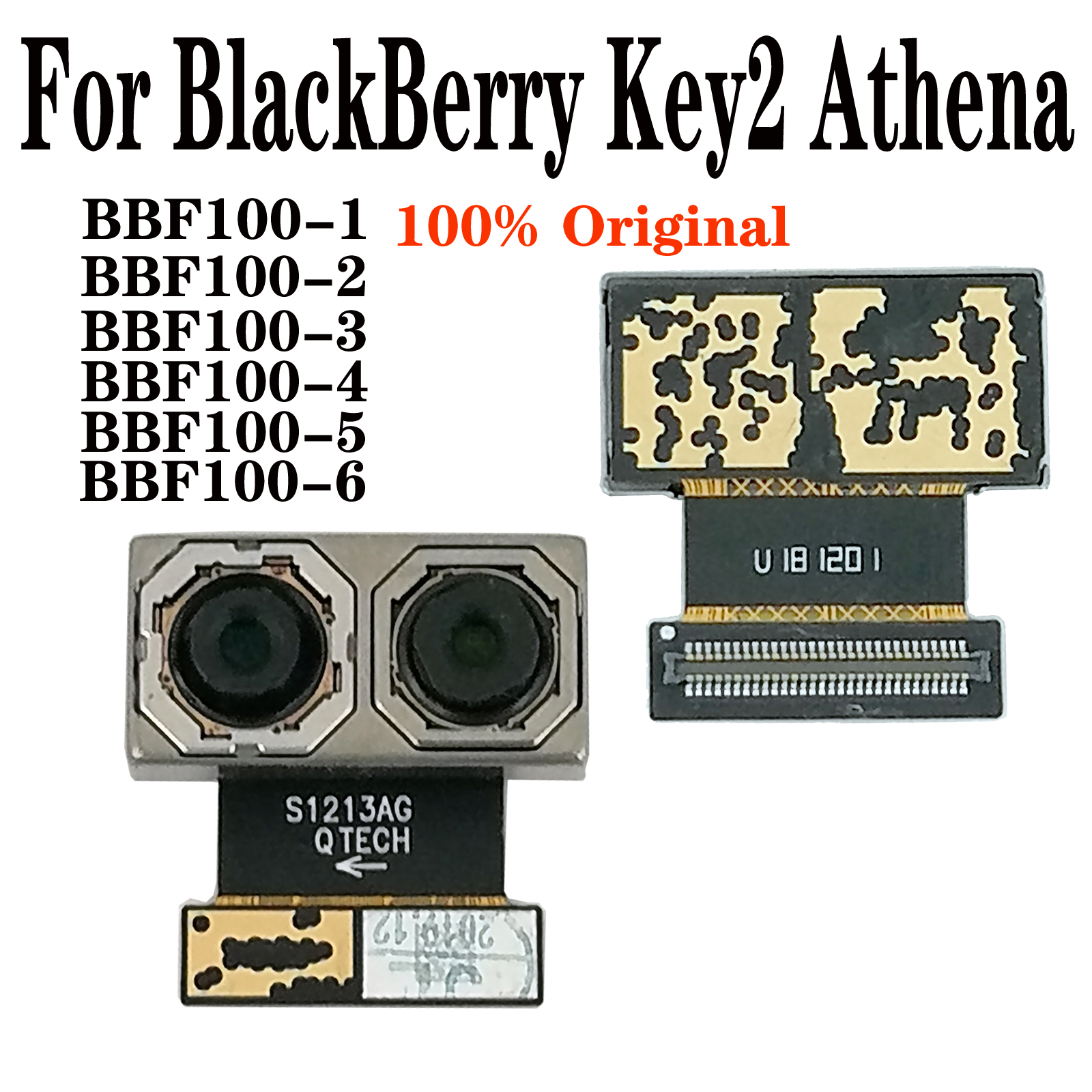 "Shyueda 100% Orig New For BlackBerry Key2 Key 2 Athena BBF100-1-2-3-4-5-6 4.5"" Rear Back Main Camera Part Module"