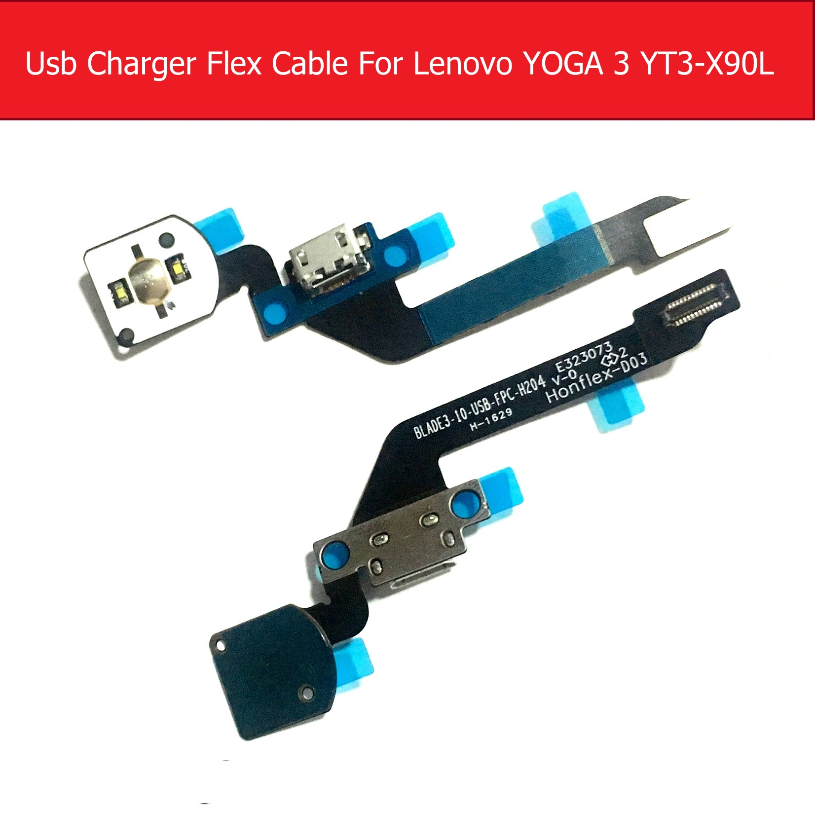 Genuine USB Charger Flex Cable For Lenovo YOGA Tab3 Pro X5-Z8500 YT3-X90F Charging Jack Port Connector Flex Ribbon Replacement