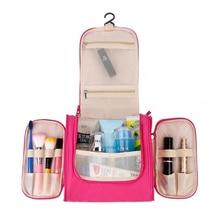 Nylon Waterproof Travel Organizer Bag Unisex Women Cosmetic Hanging Makeup Bags Washing Toiletry Kits Storage