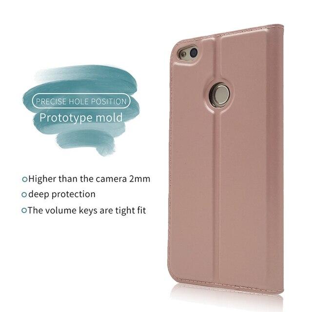 JCKHM compatibile con Funda Huawei P9 lite Funda de Cuero Flip Case Carcasa Flip Piel Wallet Case Anverso y reverso Copertura de PU Cover Funda de piel color liso con cord/ón,azul