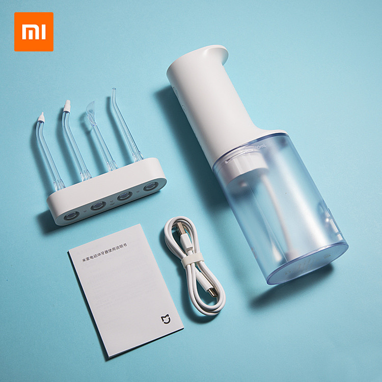 XIAOMI Mijia Smart Electric Oral Irrigator IPX7 Waterfroof Dental Water Jet Flosser 4 Modes Oral Cleaning W/4 NozzlesMemory