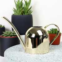 Watering Can Gold Color Stainless Steel Pot Long Spout Outdoor Plant Pot Bottle Watering Device Meaty Bonsai Garden Supplies