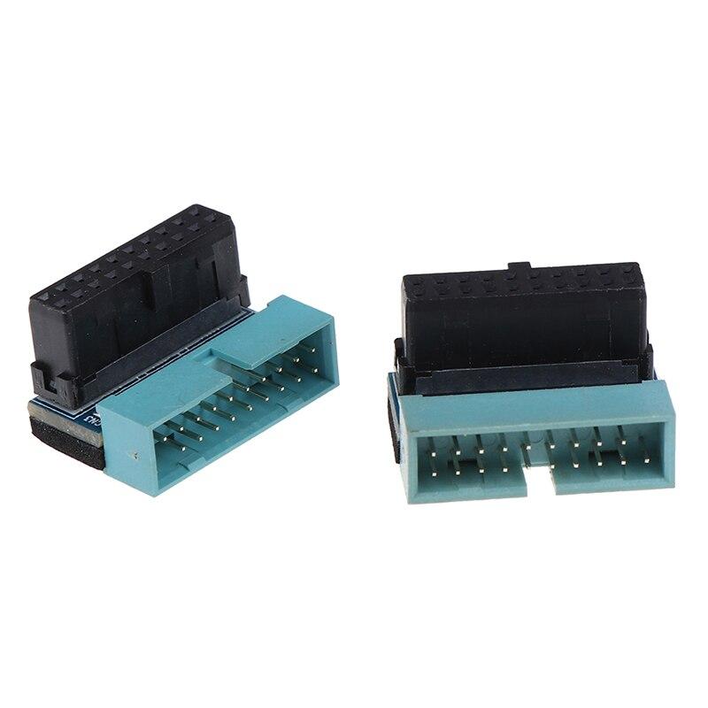 Адаптер-удлинитель для материнской платы, USB 3,0, 20 контактов, штекер-гнездо, под углом 90 градусов