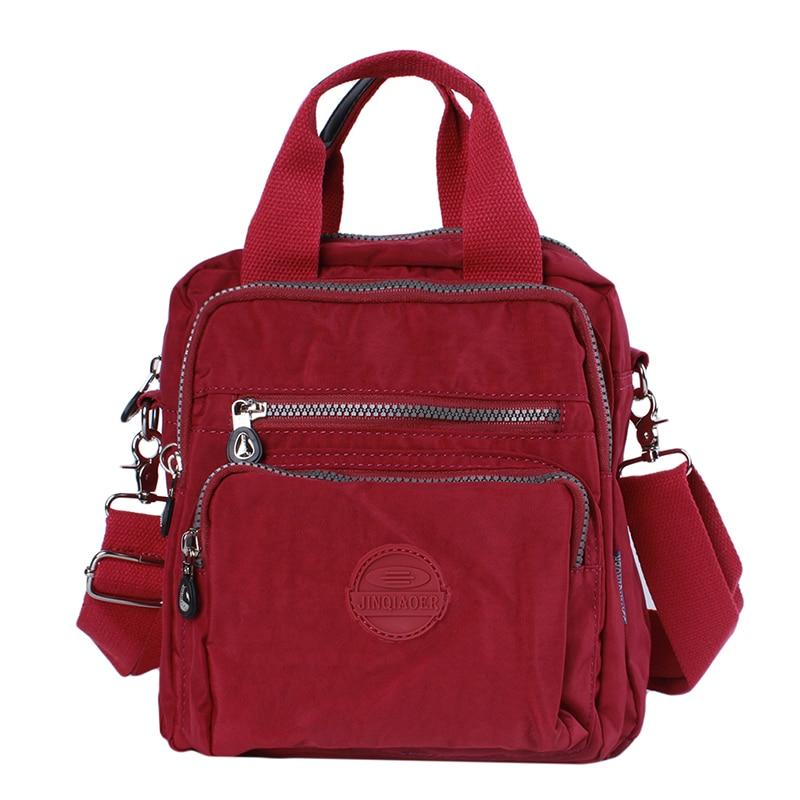 Senhoras uso diário vários bolsos bolsa macia náilon saco de cor sólida grande capacidade feminina saco de compras casual praia