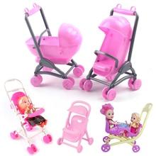 Cochecito de bebé para muñecas, muebles de casa de muñecas, accesorios, carro infantil, carrito para niños, modelo para niñas, casa de muñecas, juegos de simulación