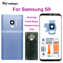 """Get more info on the S9 pantalla For Samsung Galaxy S9 G960 G960F 5.8"""" Rear Back Battery Housing Cover+Touch Front Outer Glass Replacement +Tools"""