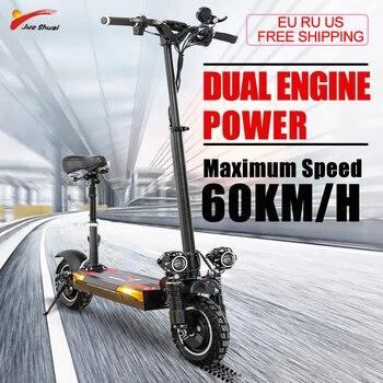 Patinete eléctrico de alta velocidad para adultos, Scooter plegable de 48V y...