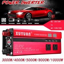 цена на Solar Inverter DC 12/24V To AC 110V/220V 3000W/4000W/5000W/8000W/10000W Sine Wave Converter Voltage Transformer Charger