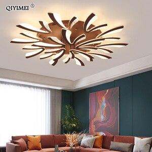 Image 1 - Modern LED ceiling chandelier lights for living room bedroom Dining Study Room White Black Body AC90 260V Chandeliers Fixtures