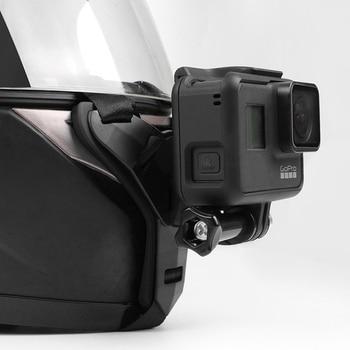 Full Face Helmet Chin Mount Holder for GoPro Hero 8 7 5 SJCAM Motorcycle Helmet Chin Stand Camera Accessories for Go Pro Hero 9 1