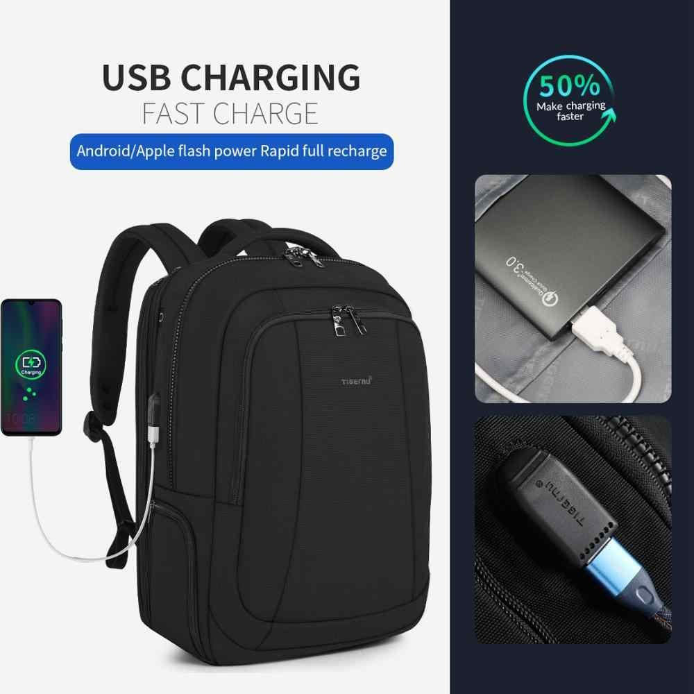 Tigernu 2020 Baru Fashion Perjalanan 39L 17.3 Inch Kapasitas Besar Ransel Laptop Pria Anti Pencurian Ritsleting Tahan Air Pria Tas Sekolah