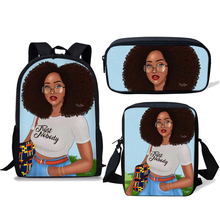 NOISYDESIGNS Kids School Bags Black Girl Magic Afro Lady Printing Children Backpack Teenagers Shoulder Book Bag Mochila Escolar цена