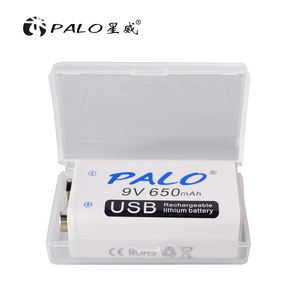 Image 2 - PALO 650mAh 9V Rechargeable Battery 6F22 Micro USB 9v Li ion Lithium Batteries for Multimeter Microphone Toy Remote Control KTV