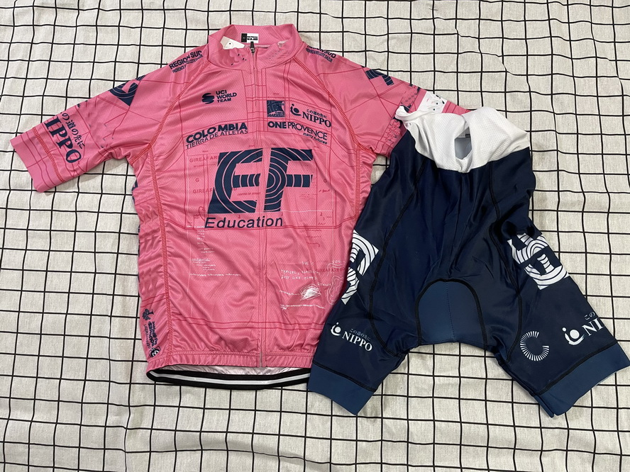 2021 EF EDUCATION FIRST PRO TEAM розовая футболка с коротким рукавом для велоспорта летняя одежда для велоспорта ROPA CICLISMO + шорты-комбинезон с поясом