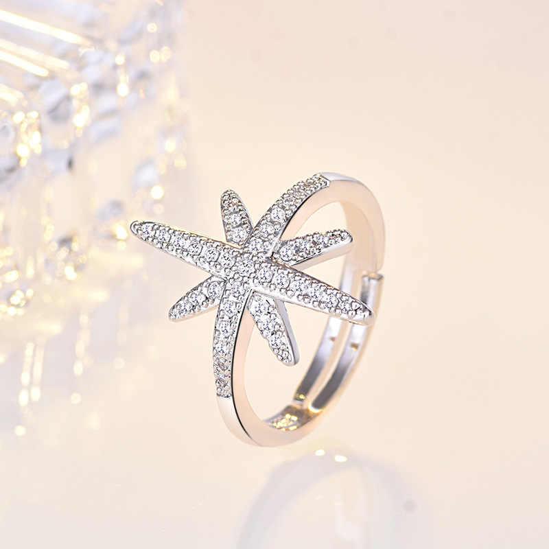 Звезда CZ обручальные кольца 925 пробы серебряные кольца для женщин Штабелируемый юбилей кольцо Вечность Группа Серебро 925 ювелирные изделия