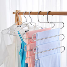 Buy S Shape Clothes Hangers MultiFunctional Cloth Rack Stainless Steel Wardrobe Storage Multi-layer Skid Durable Space Saving directly from merchant!