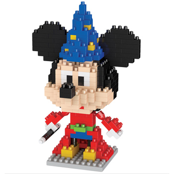 New cartoon building block Cartoon character blocks Plastic mini Brain Games Toys Room decoration gifts