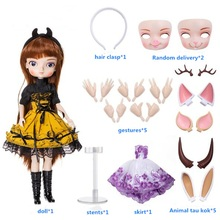 Bjd-Doll Birthday Wig-Shoes Dress Makeup 14-Movable-Joints Girls with Full-Outfits Collection