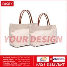 Pochette de Shopping en toile avec Logo imprimé à la mode, fourre-tout Simple et créatif, Design privé et personnalisé, JR1230