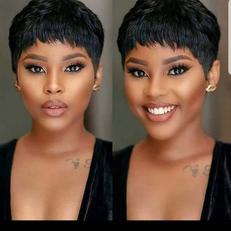 Pixie Cut Wigs 150% Density Short Lace Front Human Hair Wigs Straight Bob Lace Front Wig Pre Plucked Free Part Brazilian Remy
