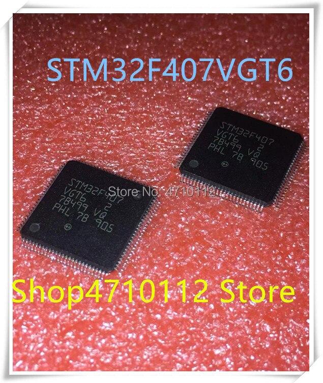 NEW 5PCS/LOT STM32F407VGT6 LQFP100 STM32F407 VGT6 IC MCU 32BIT 1MB FLASH 100LQFP