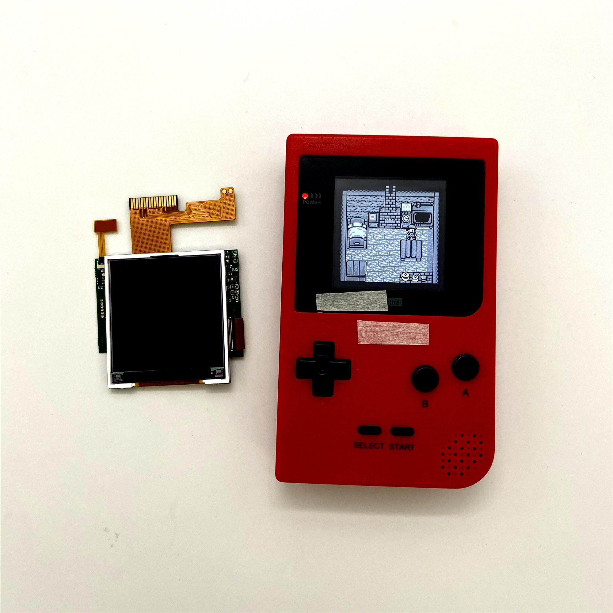 High Light Screen GBP LCD For Nintendo Gameboy pocket GBP backlight LCD screen GBP high brightness LCD GBP backlit LCD GBP Light