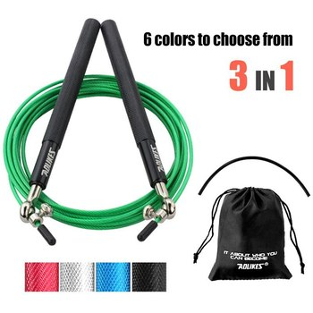 Speed Jump Rope Professional Skipping Rope For MMA Boxing Fitness Skip Workout Training With Carrying Bag Spare Cable image