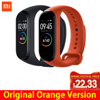 Xiao mi mi Band 3 4 Globale version Smart Armband Fitness Armband uhr Band 3 Großen Touchscreen Nachricht Herz Rate zeit Smartband