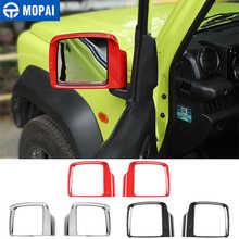 Para coches MOPAI Exterior espejo retrovisor lluvia ceja decoración cubierta de Marco pegatinas para Suzuki Jimny 2019 2020