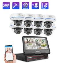 Techage 8CH 1080P POE NVR zestaw System kamer bezpieczeństwa 2.0MP HD Dome kamery IP IR kryty noktowizor zestaw nadzoru wideo CCTV