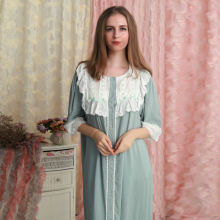 Cotton Nightgown Woman Nightdress Loose Homewear Long Dress Lady princess Sleepwear Summer Vintage Design